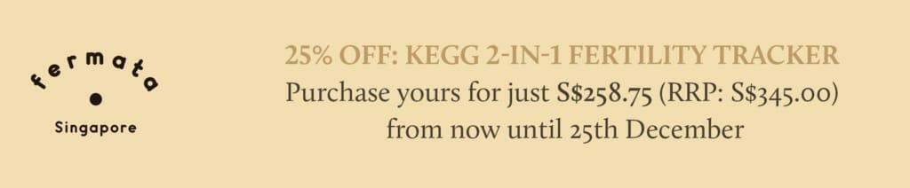 Fermata 25% off Kegg fertility tracker